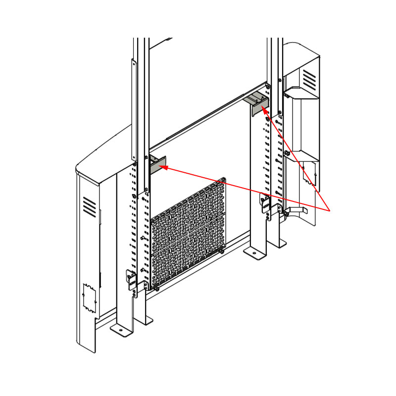 Chief Flat Panel Floor Support System 2 Rack Unit