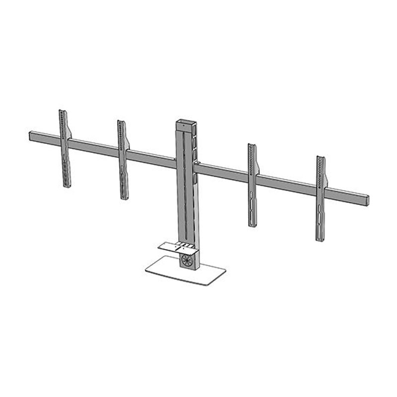 Audio Visual Furniture Dual Monitor Mount for Large