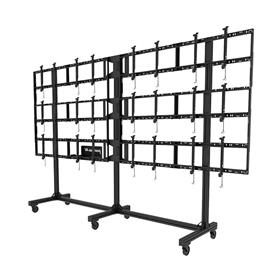 Peerless 4x2 Video Wall Cart for 46-55 inch Screens (Black