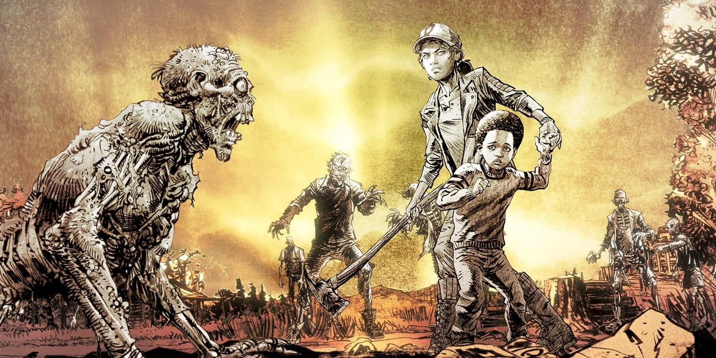 The Walking Dead Ultime Saison Clementine et AJ First