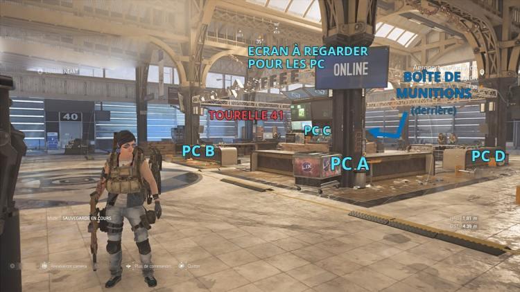 Raid The Division 2, Placement des PC, Zone de Boss1