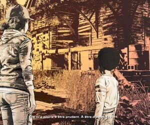 The Walking Dead Episode Final Clementine et AJ se remémorant des souvenirs