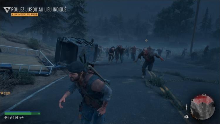 Deacon est poursuivi par des zombies
