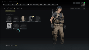 Tom Clancy's Ghost Recon Breakpoint personnalisation du personnage