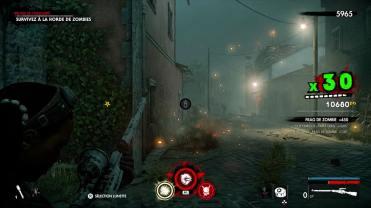 Test Zombie Army 4 Dead War combat dans une ruelle