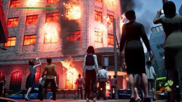 Disaster Report 4 Summer Memories bâtiments en feu