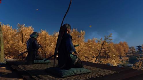 Ghost of Tsushima je joue de la flûte pour toi Dame Masako