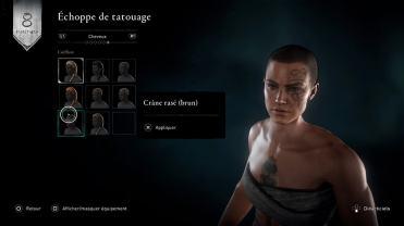 Assassins Creed Valhalla PS4 Eivor choix de coiffure
