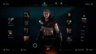 Assassin's Creed Valhalla Eivor menu personnalisation