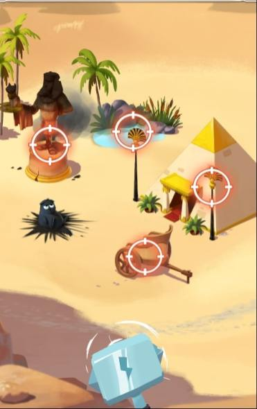 Coin Master attaque village egyptien