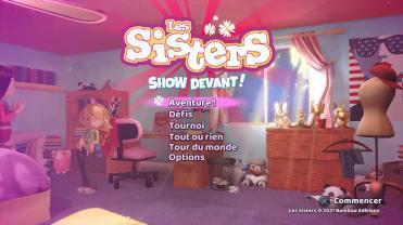 Les Sisters Show Devant ecran titre jeu