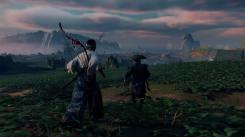 Ghost of Tsushima marche vers une mission avec un PNJ