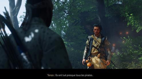 Ghost of Tsushima rencontre avec Tenzo, un personnage important de ce DLC