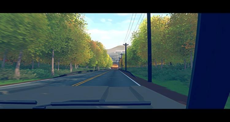 Route vue depuis l'intérieur d'une voiture