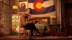 Alex joue de la guitare