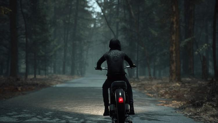The Medium personnage à moto