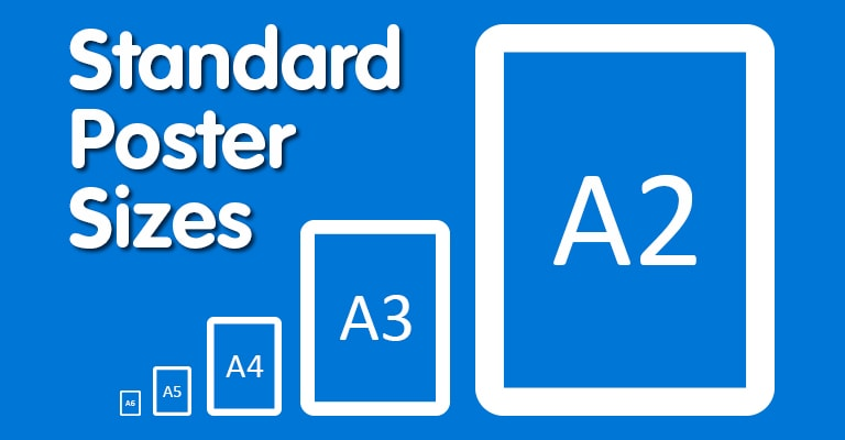 standard poster sizes display wizard