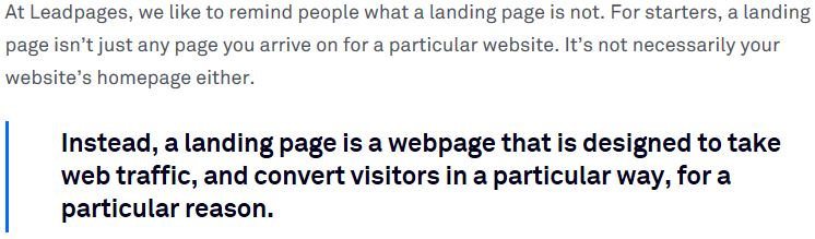 definition of a landing page in digital marketing
