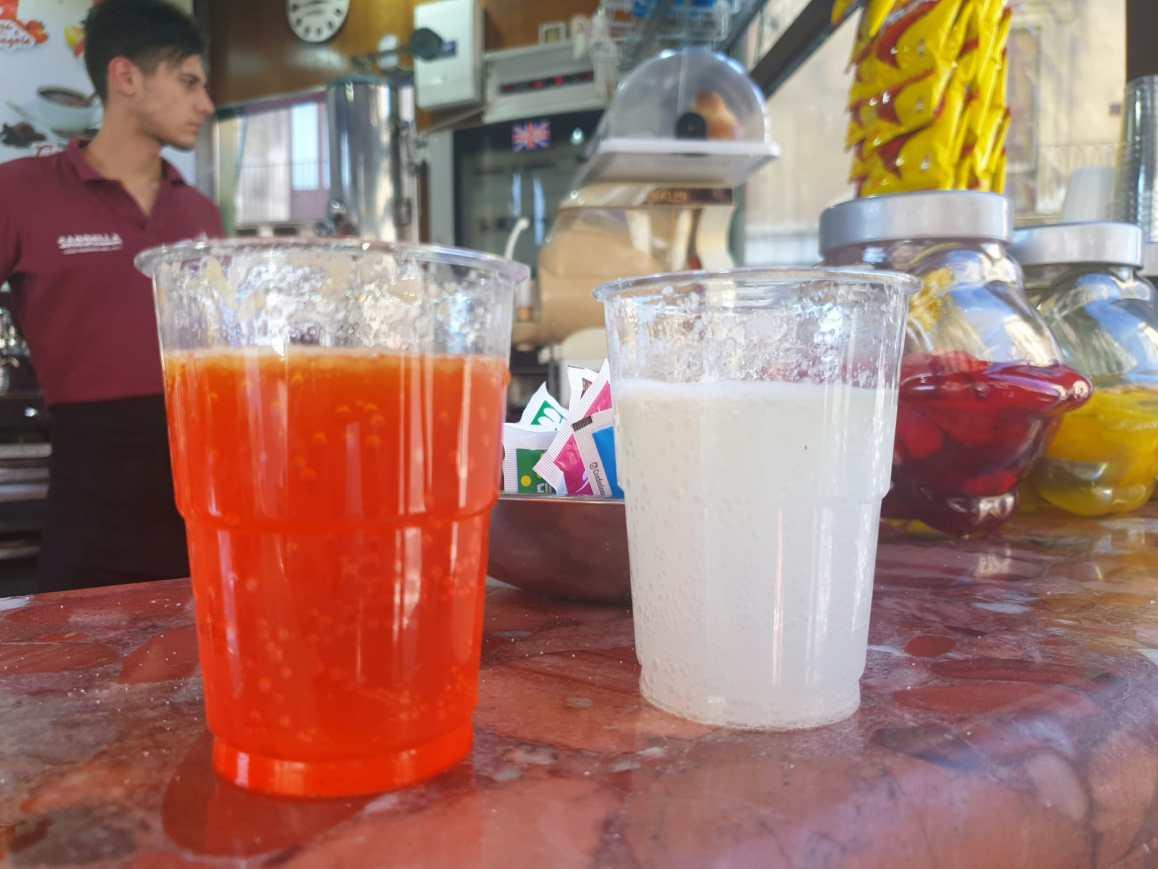 Seltz, limone, sale; chioschi di Catania