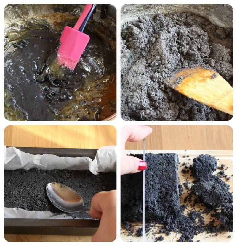 Carbone dolce della befana cottura