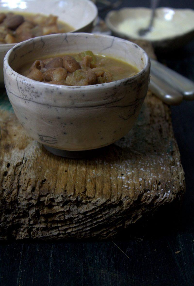 zuppa di baccalà e fagioli porzione
