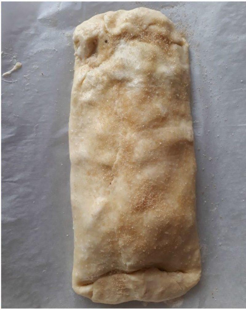 strudel con pasta brisée chiusura