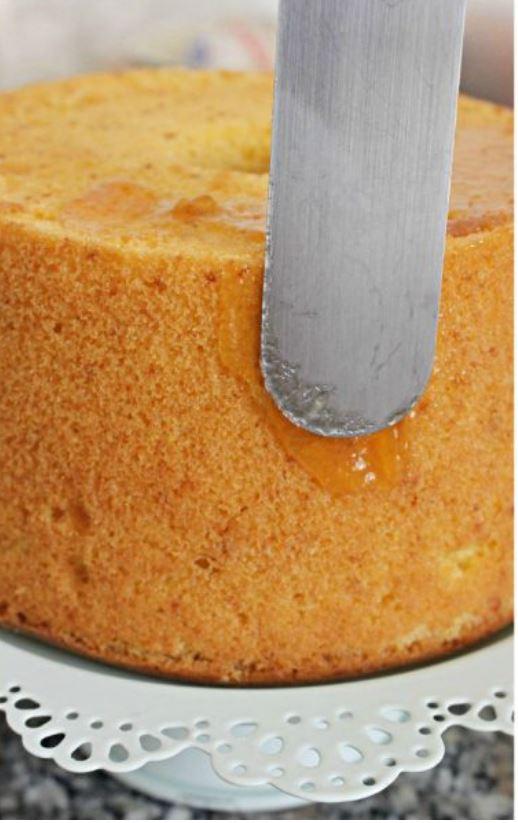 torta spalmata di gelatina