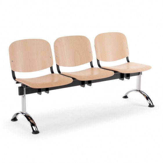 Sillas de madera para sala de espera