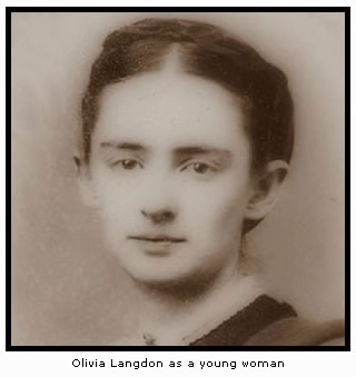 Olivia Langdon as a young woman