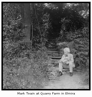 Mark Twain at Quarry Farm in Elmira