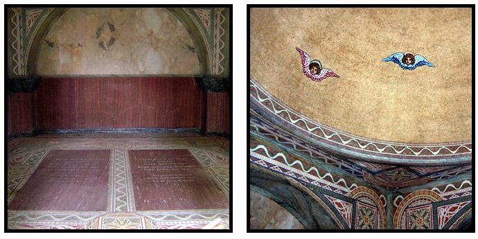 The interior of the Wainwright Tomb