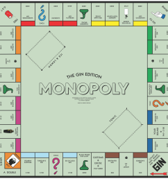 the gin monopoly board [ 1486 x 1486 Pixel ]