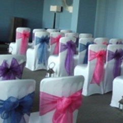 Chair Cover Elegance Neon Pink Event Styling Distinctive Wedding Venue There Are Covers And Then Distinctively Elegant Sashes It Sounds Simple But As You Would Expect From Us