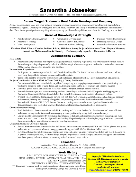 Example Of Targeted Resume Examples of Resumes