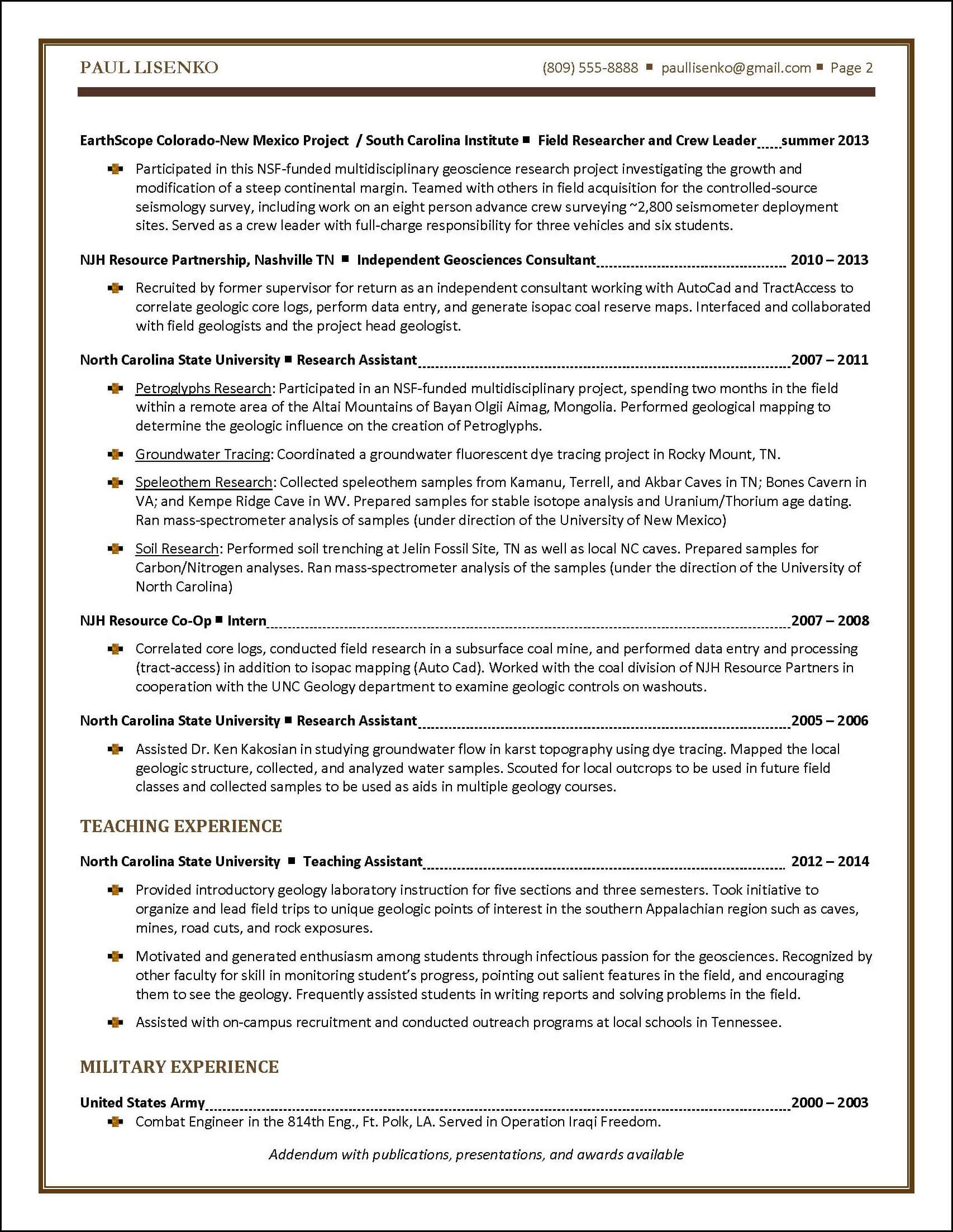 student resume sample distinctive documents - Sample Resume For Publications