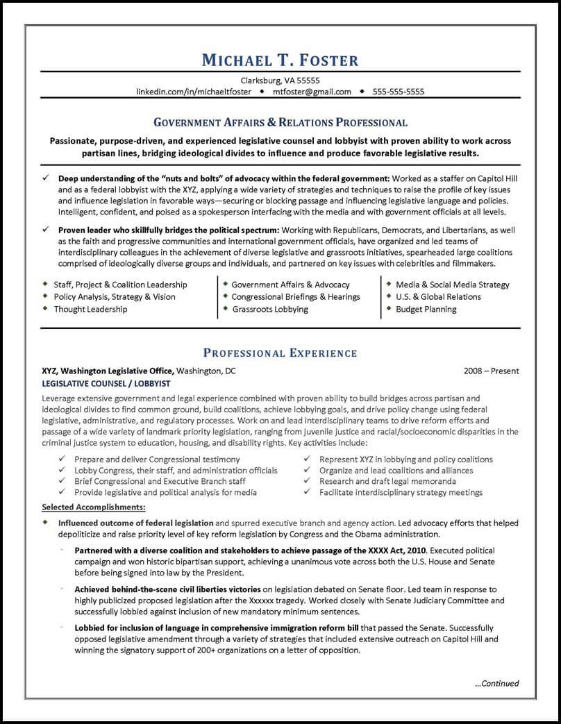 resume headline for lawyer
