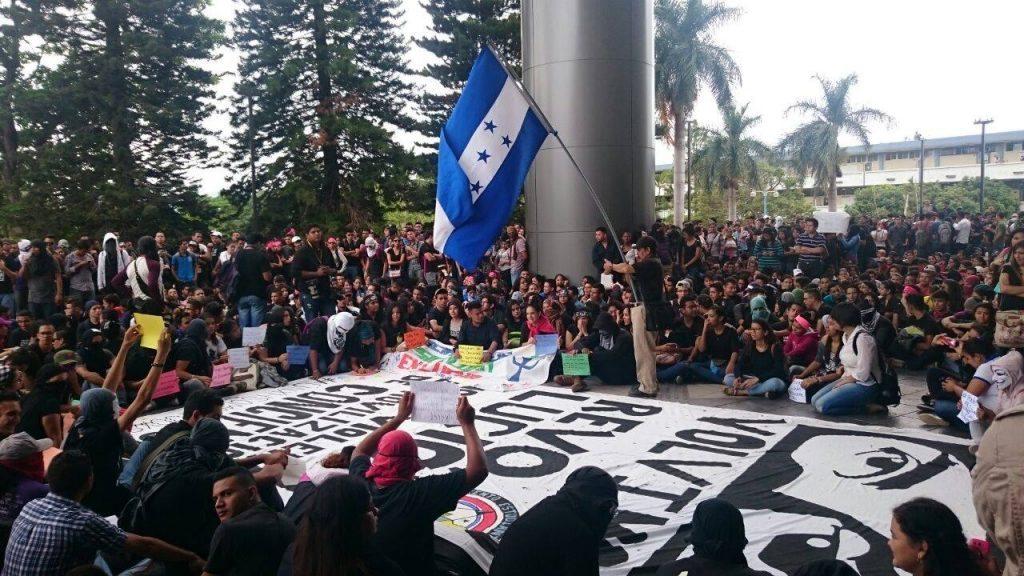 Protestas estudiantiles en la Universidad Nacional Autónoma de Honduras