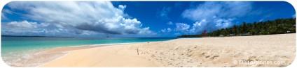 Playa de arena blanca en la isla de Daku