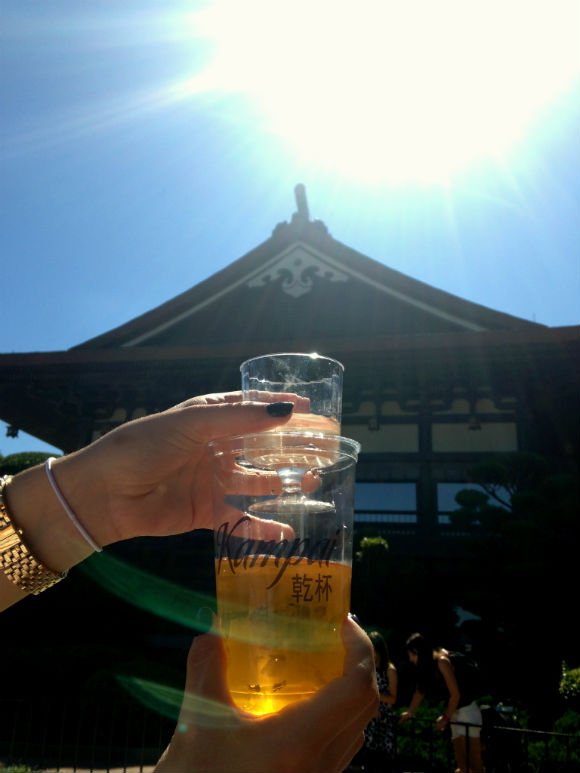 Beer, sake and traditional Japanese architecture will make you feel you traveled to Asia.