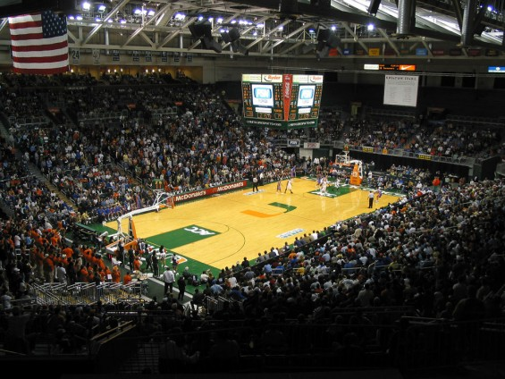 The BankUnited Center in Coral Gables, Fla. before a Hurricanes game / BankUnited Center