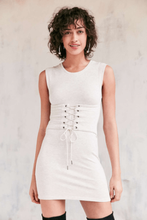 Silence + Noise Muscle Tee Corset Dress from Urban Outfitters. ($69) Source: Urban Outfitters.