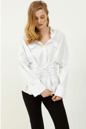 Iza Corset Shirt from Storets. ($74)