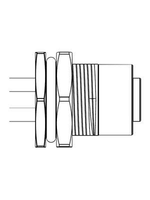 M12S04PFFSSF8B15 M12 Straight Sensor Connector, 4 Poles