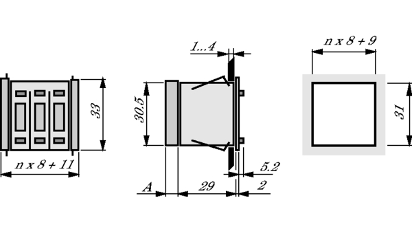 DPS9-131-AL-2 Pushbutton Switch BCD 21.1mm Hartmann