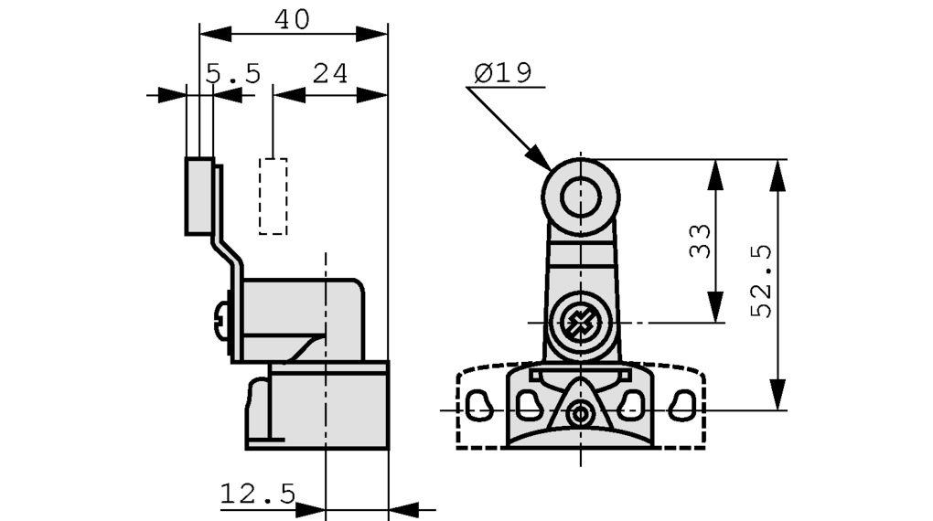 XCKP2118P16 Limit Switch Spring Return Thermoplastic