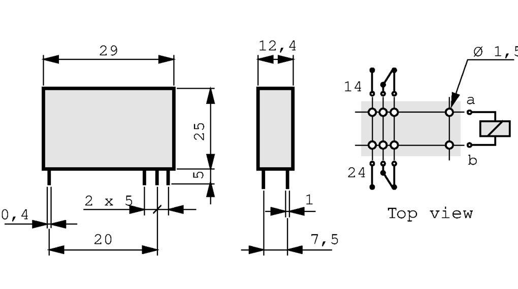 40.52.8.230.0000 Print-Leistungsrelais 230 VAC 1.2 VA Finder