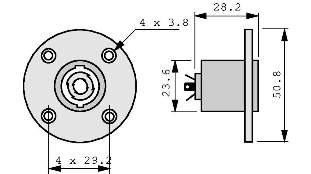 NL4MPR Gerätestecker Speakon schwarz, 4 Pole Neutrik