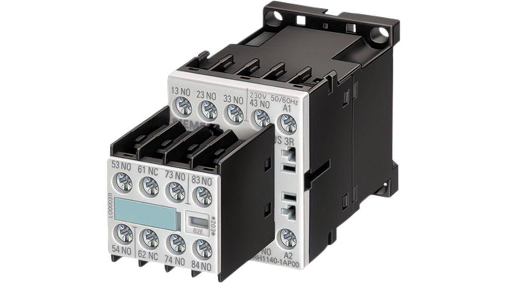 contactor relay 7no 1nc 24v 6a 1 2kw