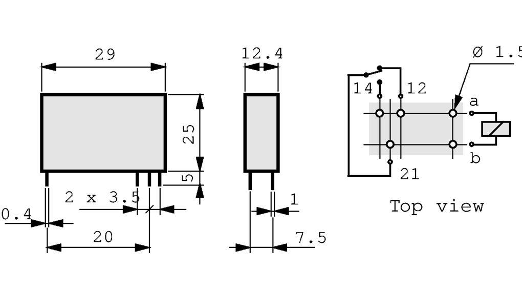 40.31.8.230.0000 Print-Leistungsrelais 230 VAC 1.2 VA Finder