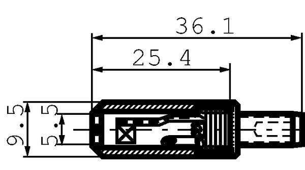 S760 Connettore di alimentazione senza bloccaggio 2,1/5,5